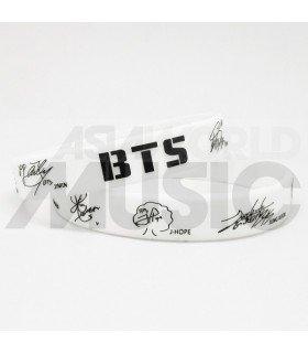BTS - Bracelet Fashion 3D - BTS SIGNATURE (WHITE)