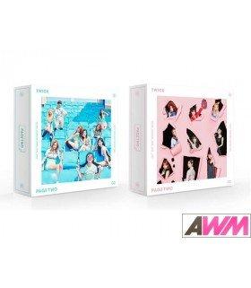 TWICE (트와이스) Mini Album Vol. 2 - PAGE TWO (PINK ou MINT Version) (édition coréenne)