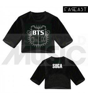 BTS - Crop top BANGTAN BOYS - SUGA (Black) (FAREAST)
