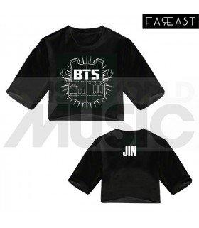 BTS - Crop top BANGTAN BOYS - JIN (Black) (FAREAST)