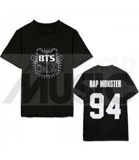 BTS - T-Shirt BANGTAN BOYS - Bulletproof / RAP MONSTER 94 (Black / Coupe unisexe)