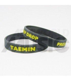 TAEMIN - Bracelet Gravé - PRESS IT (DRIP DROP) (YELLOW / GRAY)