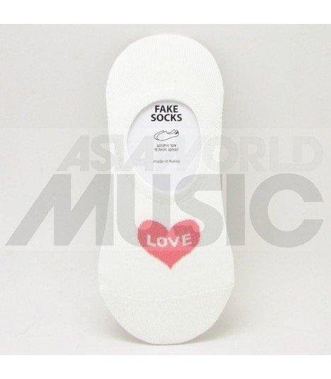 Socquettes Vivid Color - Love Heart (Pink)