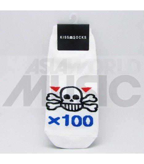 Socquettes Kiss Socks - SKULL X 100