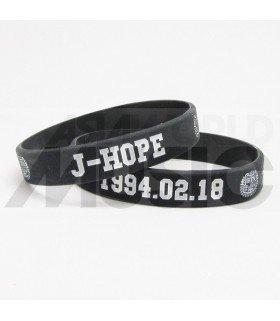 BTS - Bracelet Gravé - BANGTAN BOYS J-HOPE 1994.02.18 (BLACK)