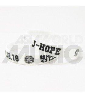 BTS - Bracelet Gravé - BANGTAN BOYS J-HOPE 1994.02.18 (WHITE)
