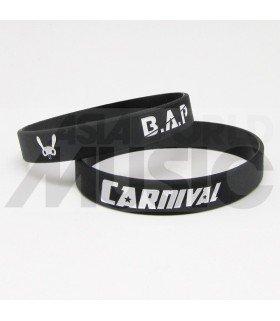 B.A.P - Bracelet Gravé - CARNIVAL (BLACK / WHITE)