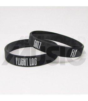 GOT7 - Bracelet Gravé - FLY (BLACK / WHITE)