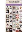 TOHOSHINKI - Planche d'autocollants format timbre collection 2014