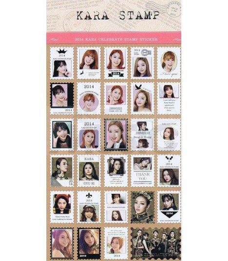 KARA - Planche de autocollants format timbre collection 2014