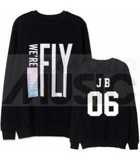 GOT7 - Sweat FLIGHT LOG - FLY / JB 06 (Black / Coupe unisexe)