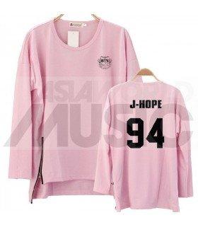 BTS - Sweatshirt Long Zip - J-HOPE 94 (Pink / Coupe unisexe)