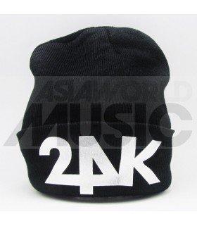 24K - Bonnet noir - 24K LOGO (Silver)