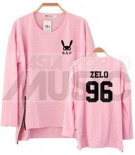 B.A.P - Sweatshirt Long Zip - ZELO 96 (Pink / Coupe unisexe)