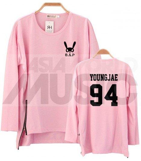 B.A.P - Sweatshirt Long Zip - YOUNGJAE 94 (Pink / Coupe unisexe)