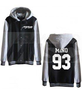 MOBB - Blouson Teddy avec capuche - MINO 93 (Black / Grey)