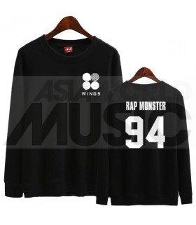 BTS - Sweat WINGS - RAP MONSTER 94 (Black / Coupe unisexe)