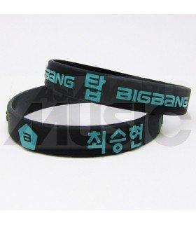 BIGBANG - Bracelet Fashion 3D - 빅뱅 (BLACK / GREEN)
