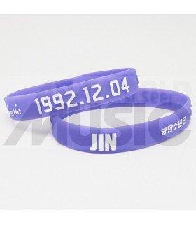 BTS - Bracelet Fashion 3D - JIN 1992.12.04 (PURPLE / WHITE)