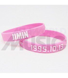 BTS - Bracelet Fashion 3D - JIMIN 1995.10.13 (PINK / WHITE)