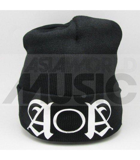 AOA - Bonnet noir - ACE OF ANGELS LOGO (Silver)