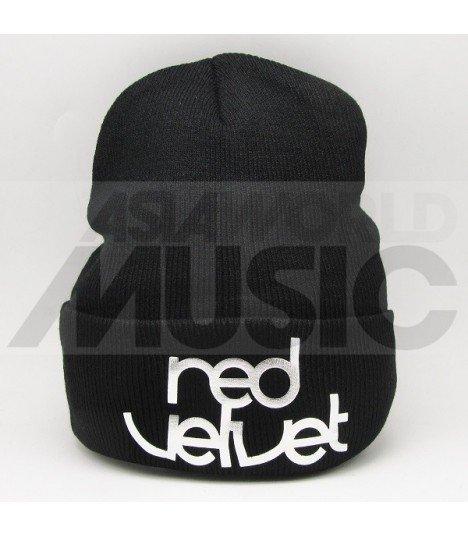 Red Velvet - Bonnet noir - RED VELVET LOGO (Silver)