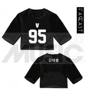 BTS - Crop top V 95 (Black) (FAREAST)