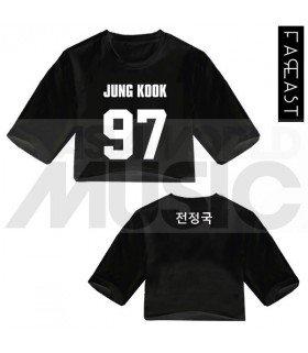 BTS - Crop top JUNG KOOK 97 (Black) (FAREAST)