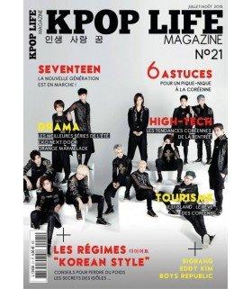KPOP LIFE Magazine numéro 21 - Juillet/Août 2015 (en Français)