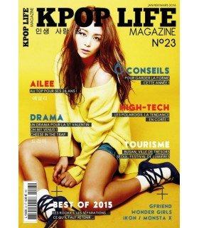 KPOP LIFE Magazine numéro 23 - Janvier/Mars 2016 (en Français)