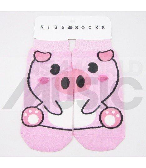 Socquettes Kiss Socks - PINK PIG