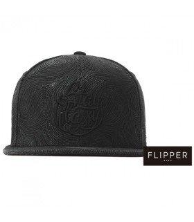 Casquette Snapback FINGER PRINT (BLACK / BLACK) (FLIPPER)