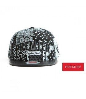 Casquette Snapback PREMIER ALLOVER (BLACK / WHITE) (PREMI3R)