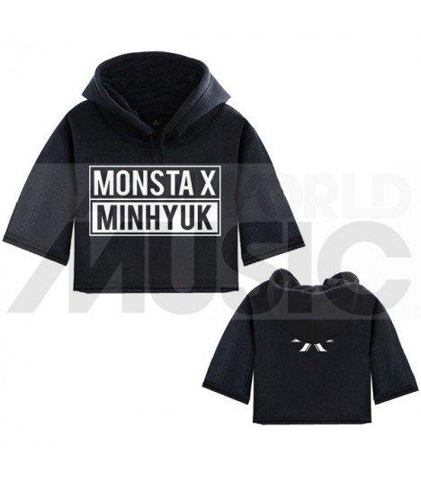 bac48f4d43 Monsta X - Sweat à capuche court MINHYUK - Asiaworldmusic.fr - Site ...