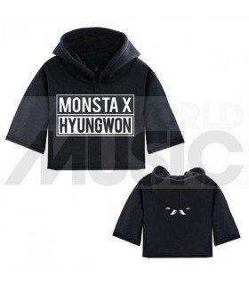 Monsta X - Sweat à capuche court HYUNGWON