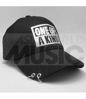 G-Dragon - Casquette noire avec anneaux - ONE OF A KIND