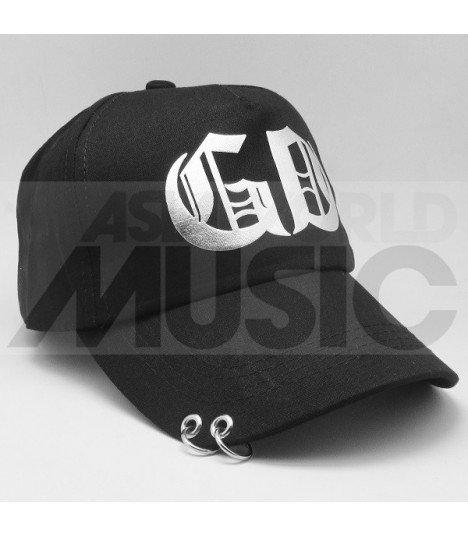 G-Dragon - Casquette noire avec anneaux - GD