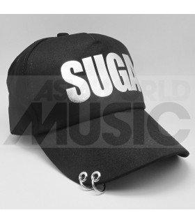 BTS - Casquette noire avec anneaux - SUGA