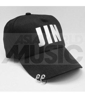 BTS - Casquette noire avec anneaux - JIN