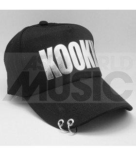 BTS - Casquette noire avec anneaux - KOOKIE