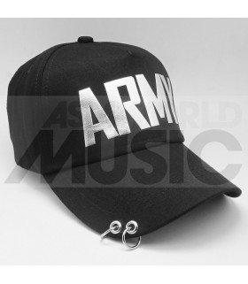 BTS - Casquette noire avec anneaux - ARMY