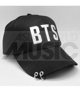 BTS - Casquette noire avec anneaux - BTS NEW TYPO