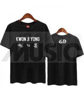 G-Dragon - T-Shirt KWON JI YONG (Black / Coupe unisexe)