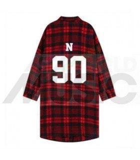 VIXX - Chemise longue à carreaux - N 90 (Red & Black) (Taille unique)