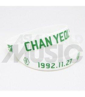 EXO - Bracelet Fashion 3D - EXO BIRTHDAY - CHANYEOL (WHITE / GREEN)