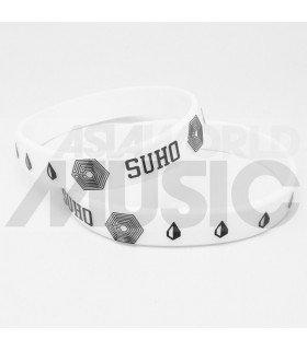 EXO - Bracelet Fashion 3D - OVERDOSE SUHO (WHITE / BLACK)