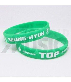 T.O.P (BIGBANG) - Bracelet Fashion 3D - SEUNG-HYUN (GREEN / WHITE)
