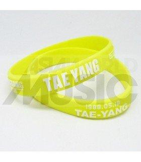 TAEYANG (BIGBANG) - Bracelet Fashion 3D - TAE-YANG (YELLOW / WHITE)