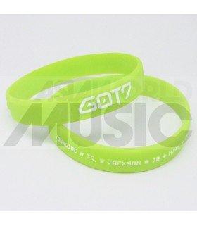 GOT7 - Bracelet Fashion 3D - BAND & MEMBERS (LIGHT GREEN / WHITE)