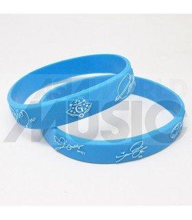 G-FRIEND - Bracelet Fashion 3D - G-FRIEND & SIGNATURE (SKYBLUE / WHITE)